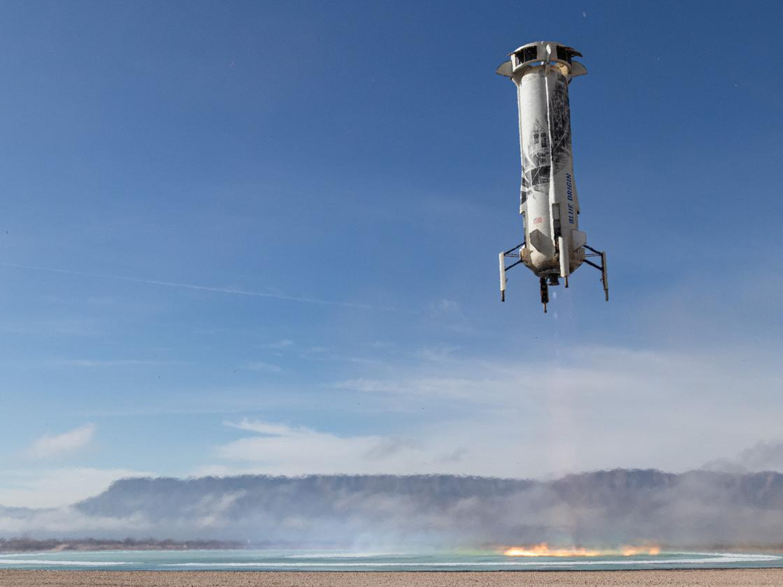 NS-12 booster dscending