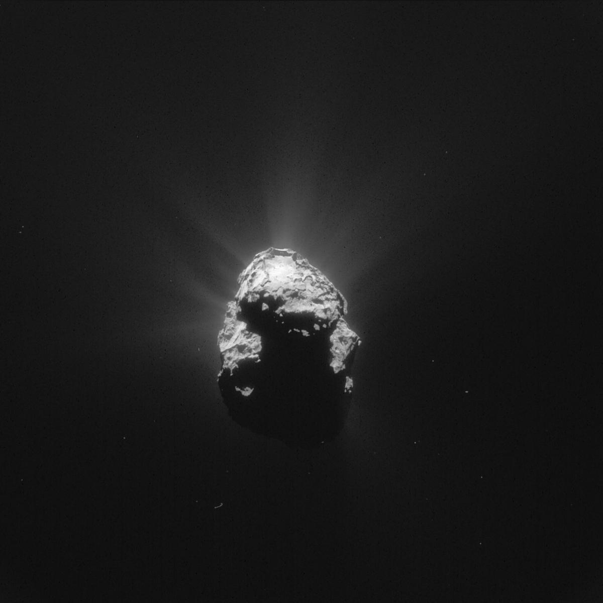 67P as taken by Rosetta's NavCam on the July 10