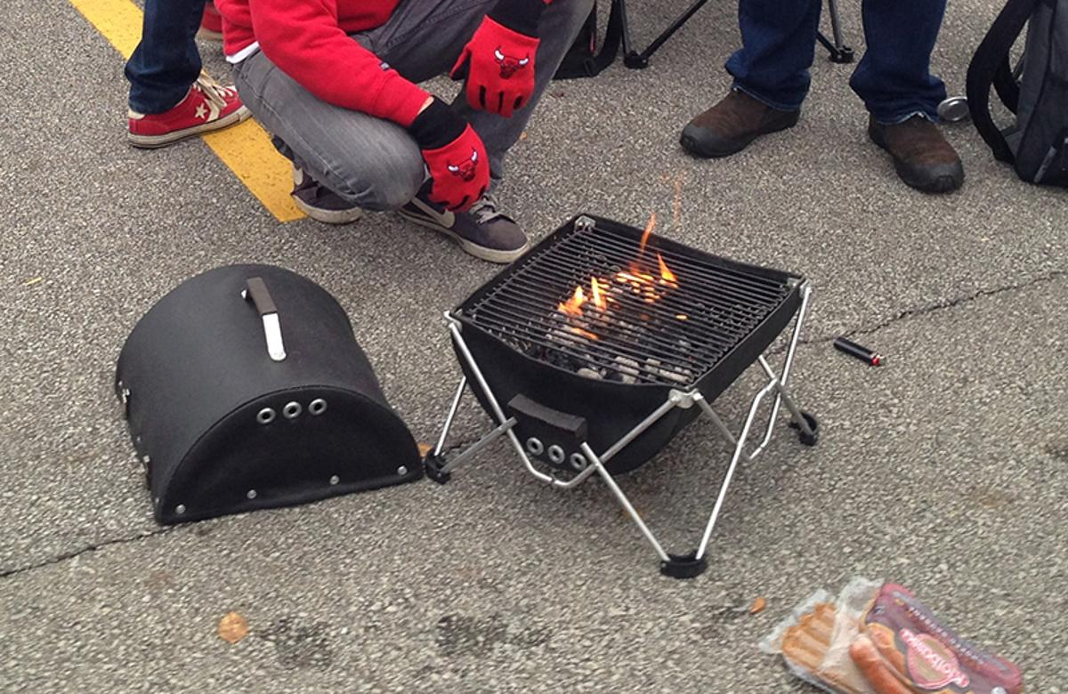 Tailgating with the folding GoBQ