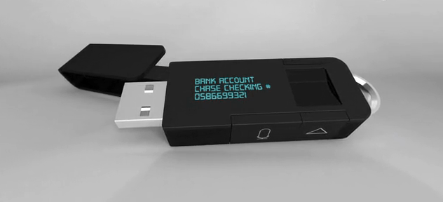The myIDkey voice-searchable USB drive for password management
