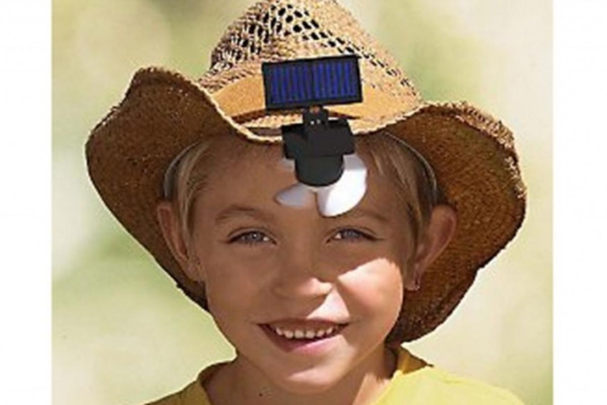 Solar-Powered Hat Fan