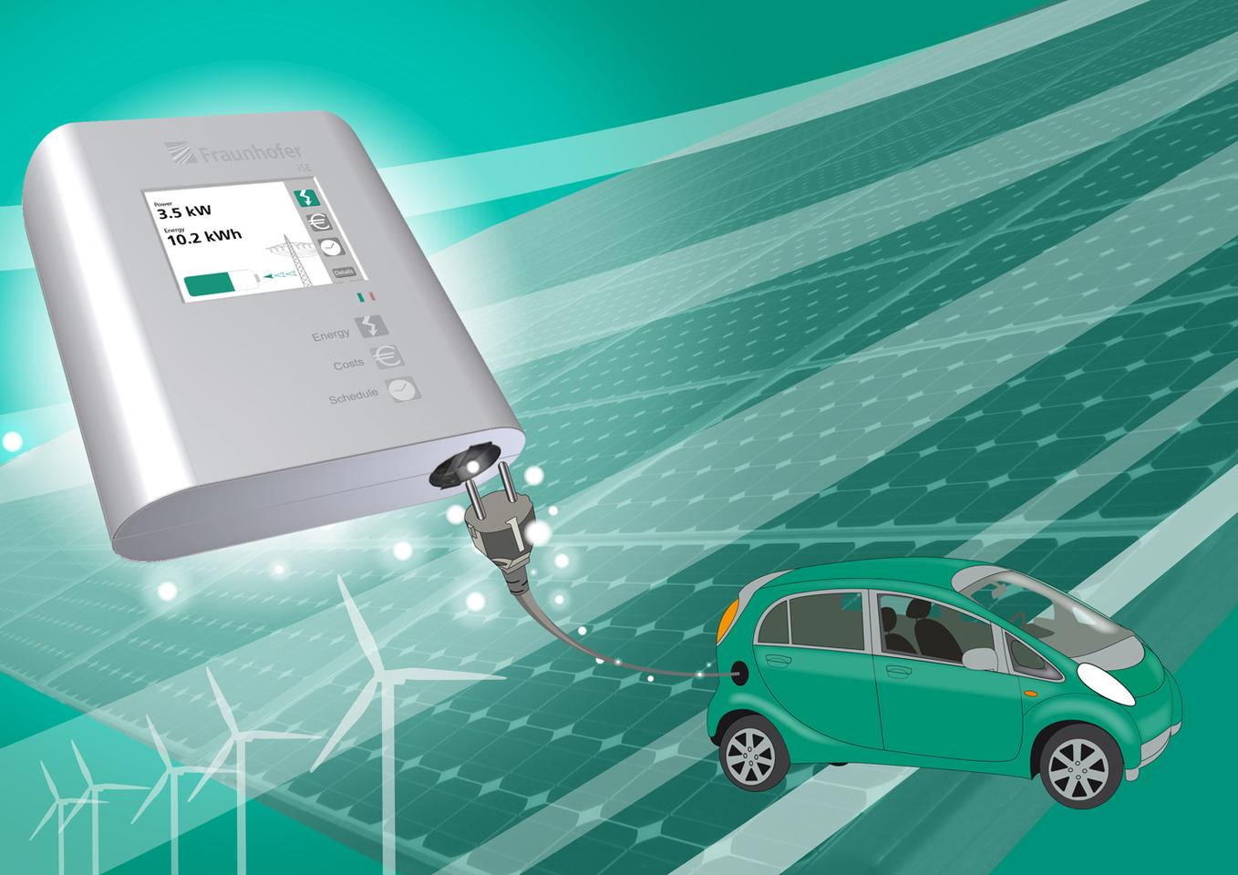 Fraunhofer's smart charging station would charge your EV when there was the most municipal power available