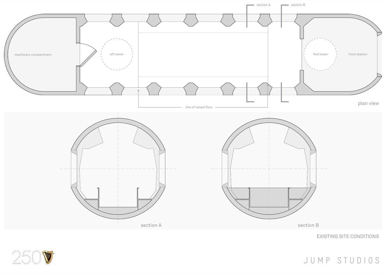 Original interior layout of Guinness submarine