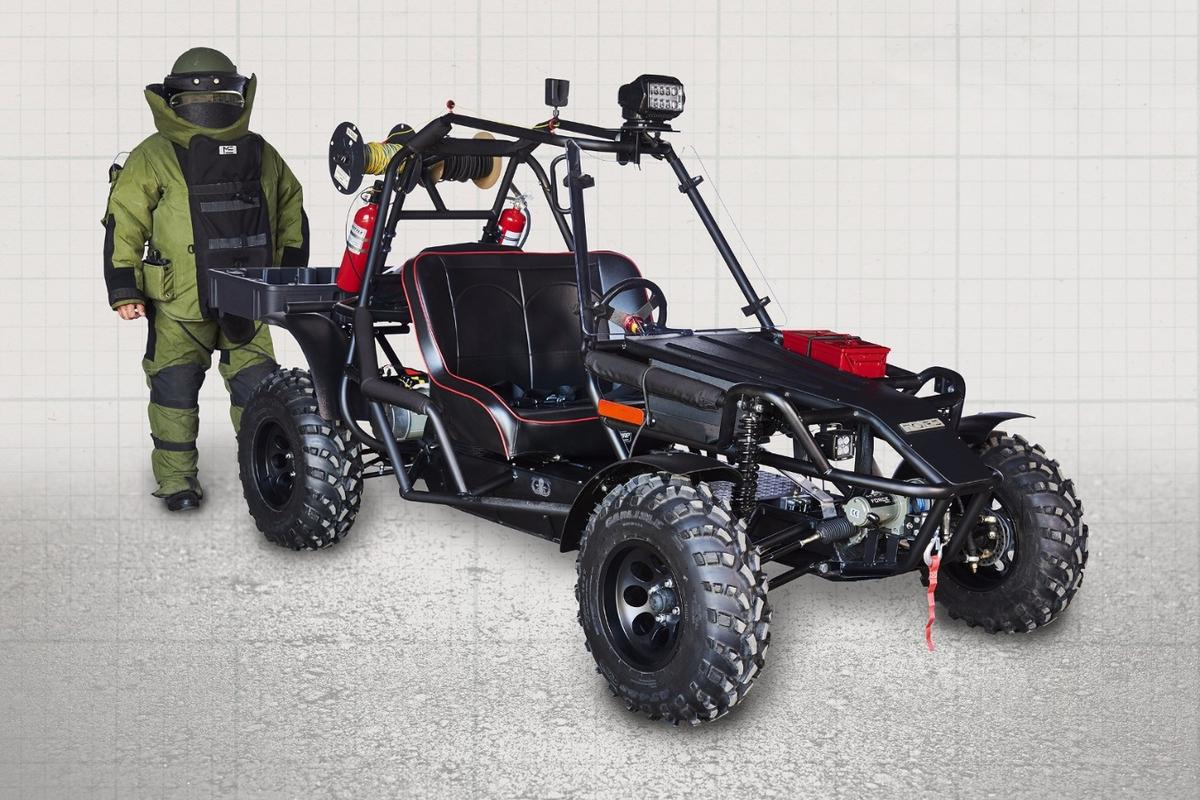 Torq has designed the LTEV to accommodate fully kitted out bomb disposal experts