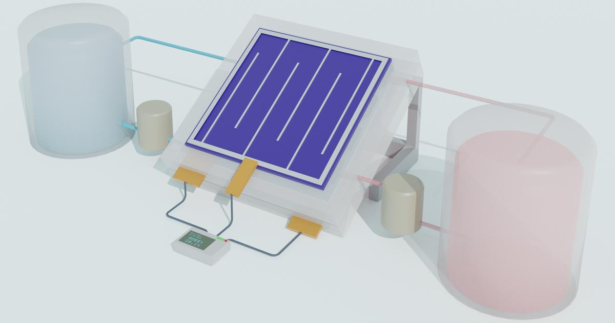 Solar flow battery efficiently stores renewable energy in liquid form
