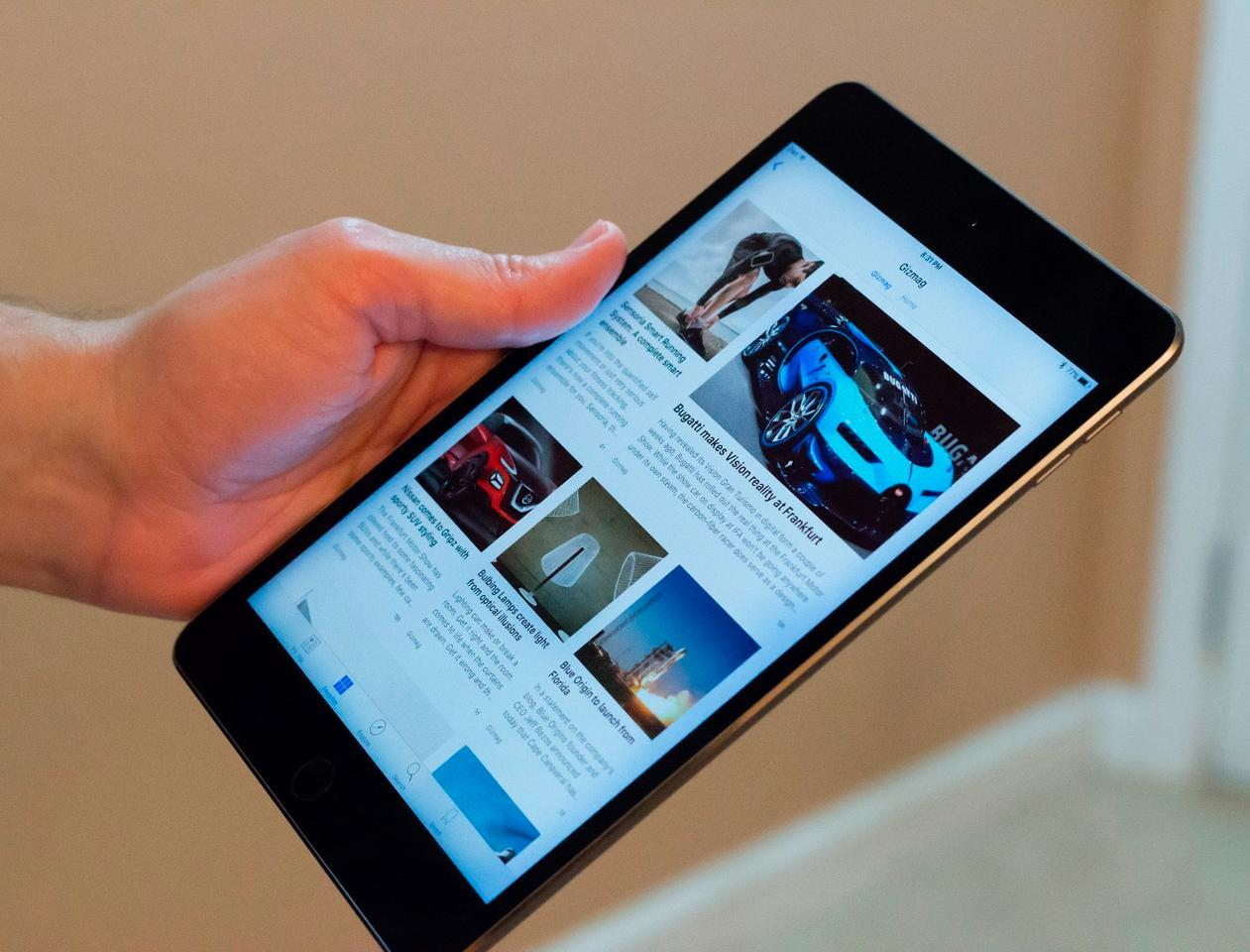 The 6.1 mm (0.24-in) thick iPad mini 4