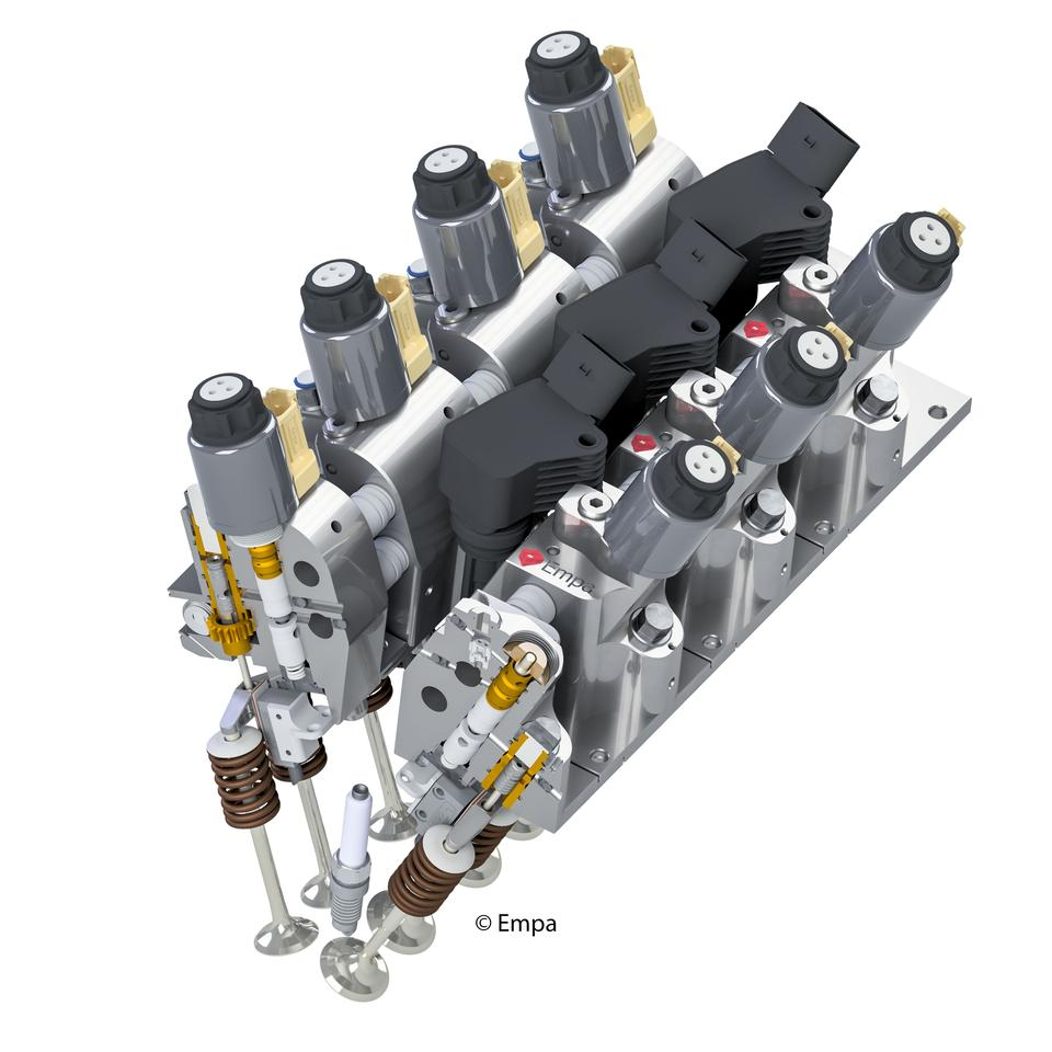 The Empa electro-hydraulic valve system