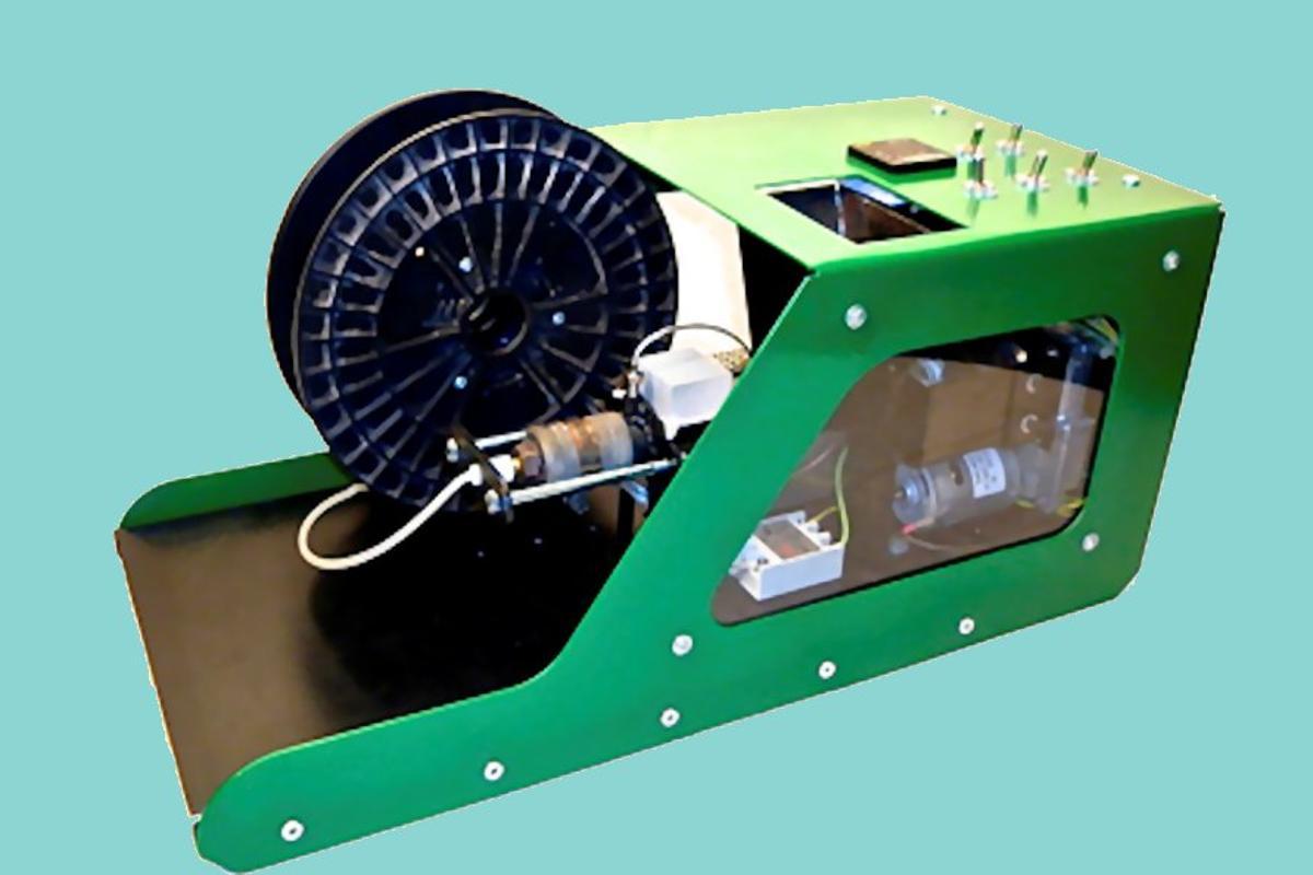 The Filabot makes new 3D printing filament from scrap plastic (Photo: Filabot/Whitney Trudo)