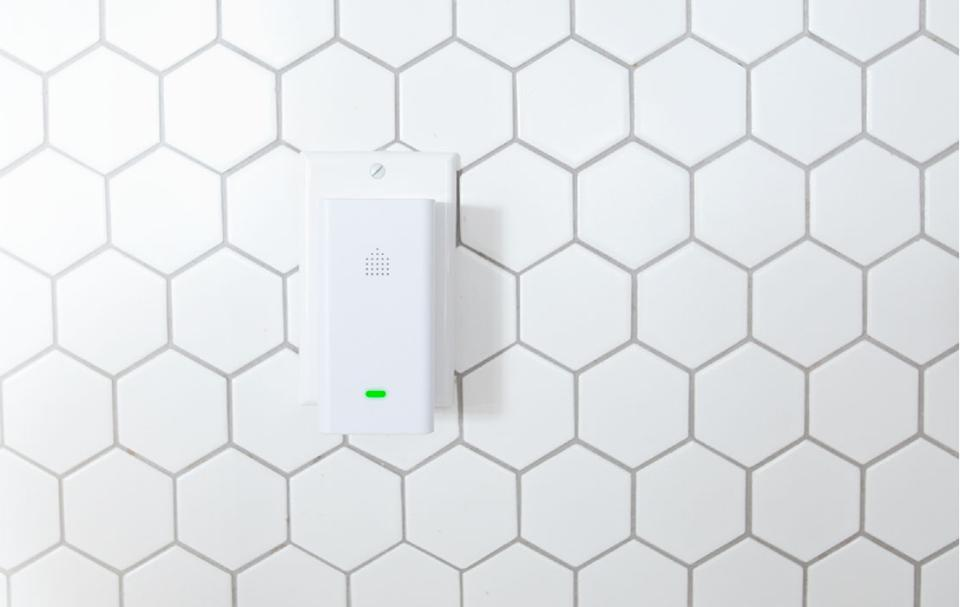 The Aura sensor is plugged directly into a wall outlet