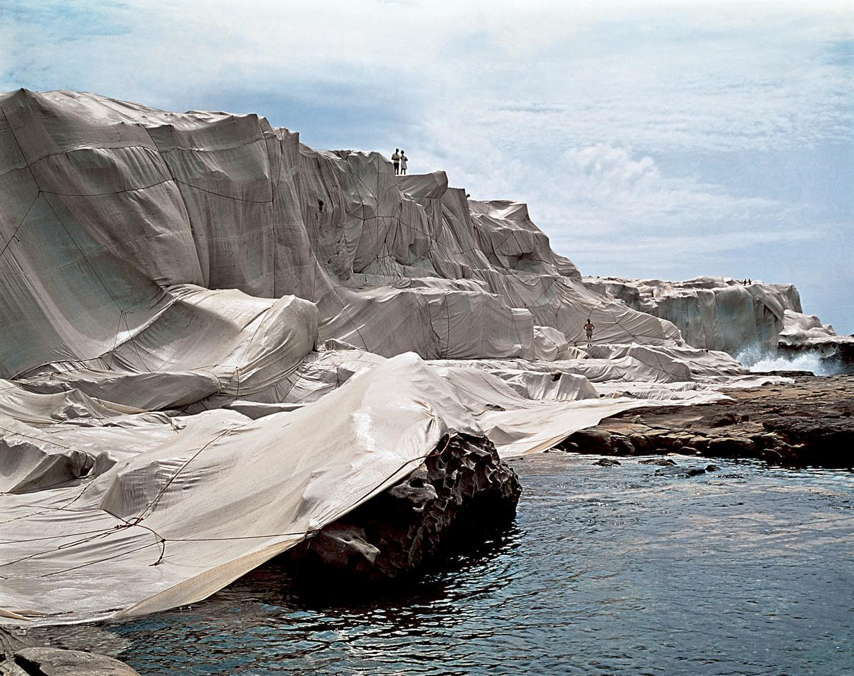 Wrapped Coast, One Million Square Feet in Little Bay, Sydney, Australia, was completed in 1969. It consisted of 1 million sq ft (92,900 sq m) of erosion-control fabric typically manufactured for agricultural purposes. 35 miles (56.3 km) of polypropylene rope and 25,000 fasteners were used to hold it in place on the cliffside rock