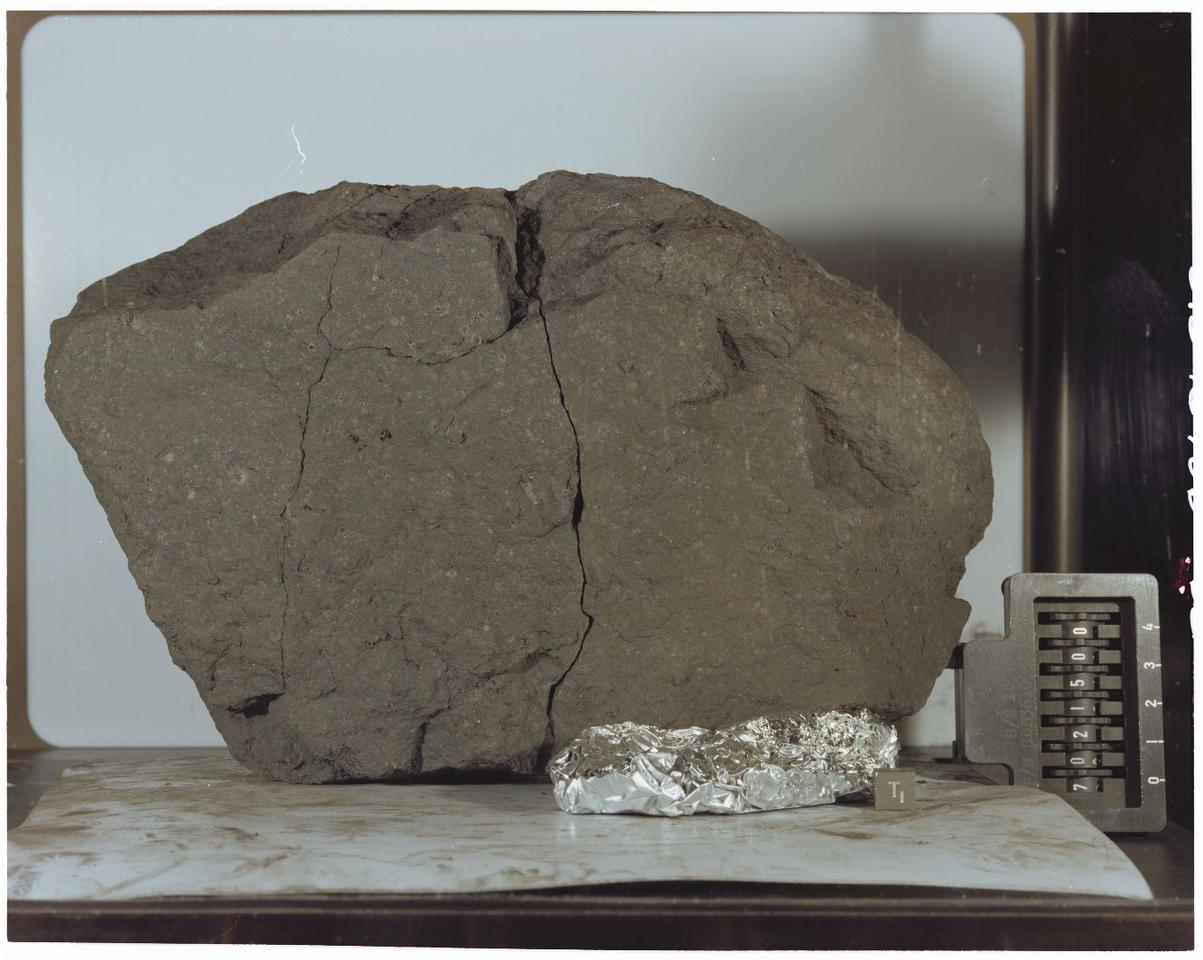 Lunar Sample 70215 was retrieved from the Moon's surface and returned by NASA's Apollo 17 crew