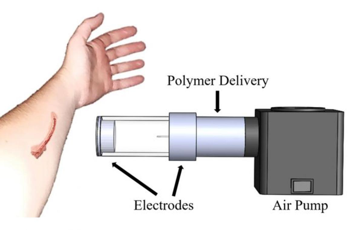 "A diagram of what's officially known as ""the electrostatic and air driven device"""