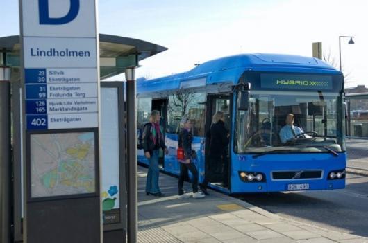 The new Volvo 7700 hybrid bus