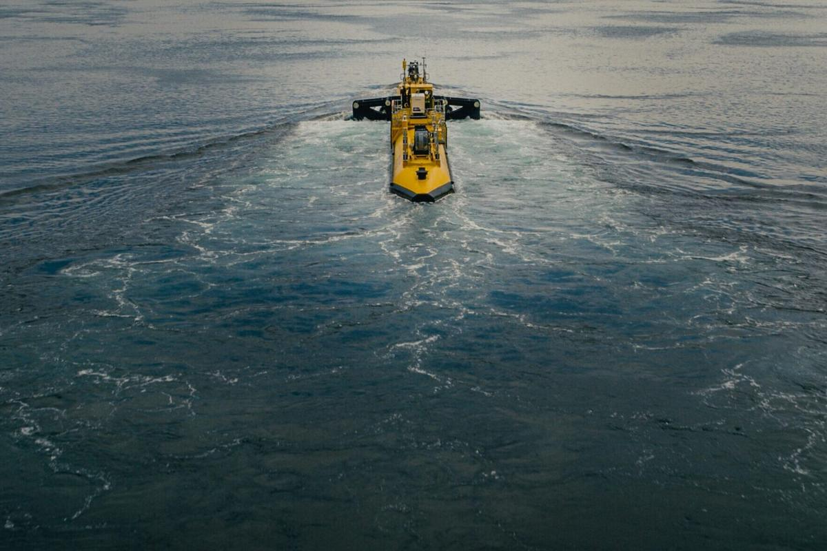 The 2-MW O2 floating marine turbine is now connected to the onshore electricity network in Orkney