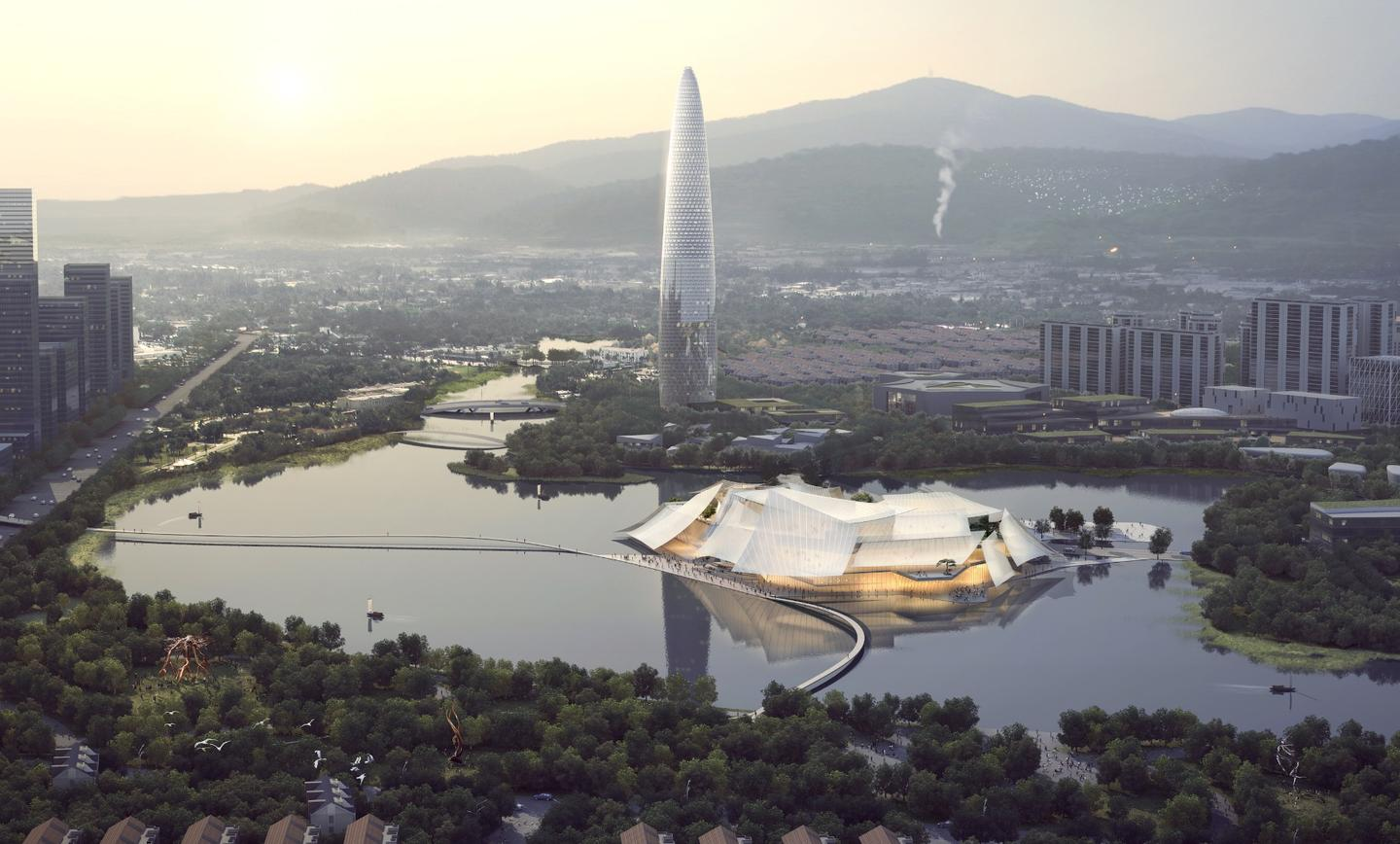 The Yiwu Grand Theater will measure 95,290 sq m (roughly 1 million sq ft)