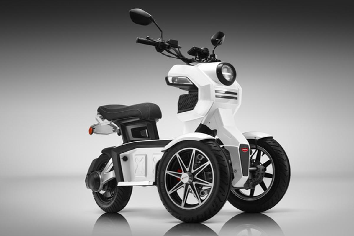 The Doohan EV3 iTank is tilting three-wheeler designed to make commuting a bit easier