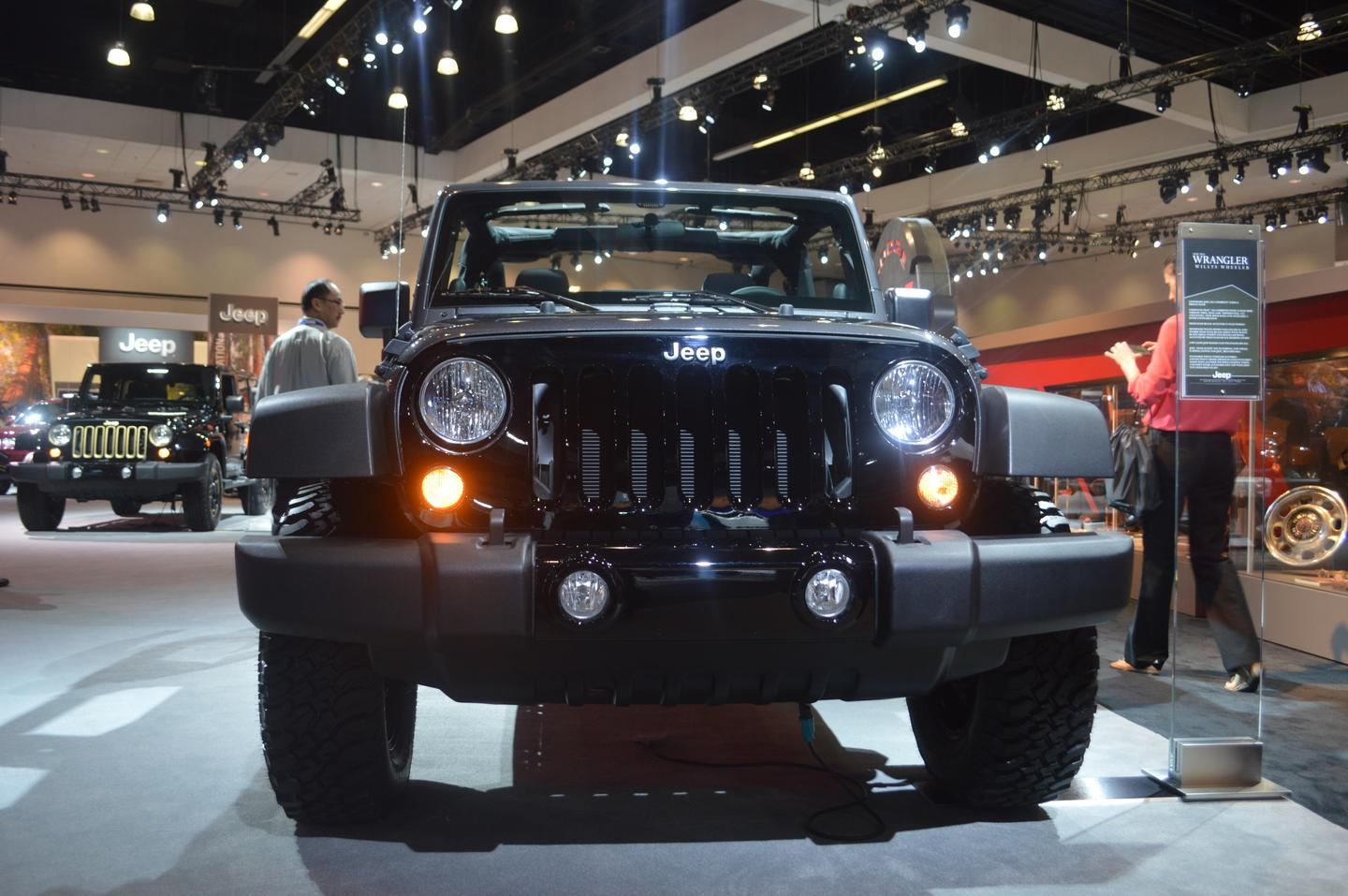 The Wrangler Willys includes a gloss black front grille