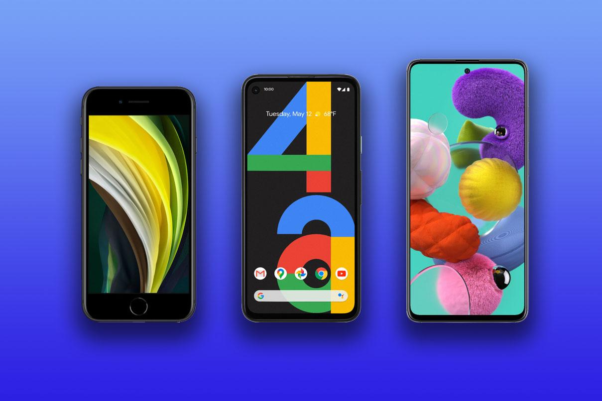 New Atlas compares the specs and features of the major mid-range phones – the iPhone SE (2020), the Google Pixel 4a, and the Samsung Galaxy A51