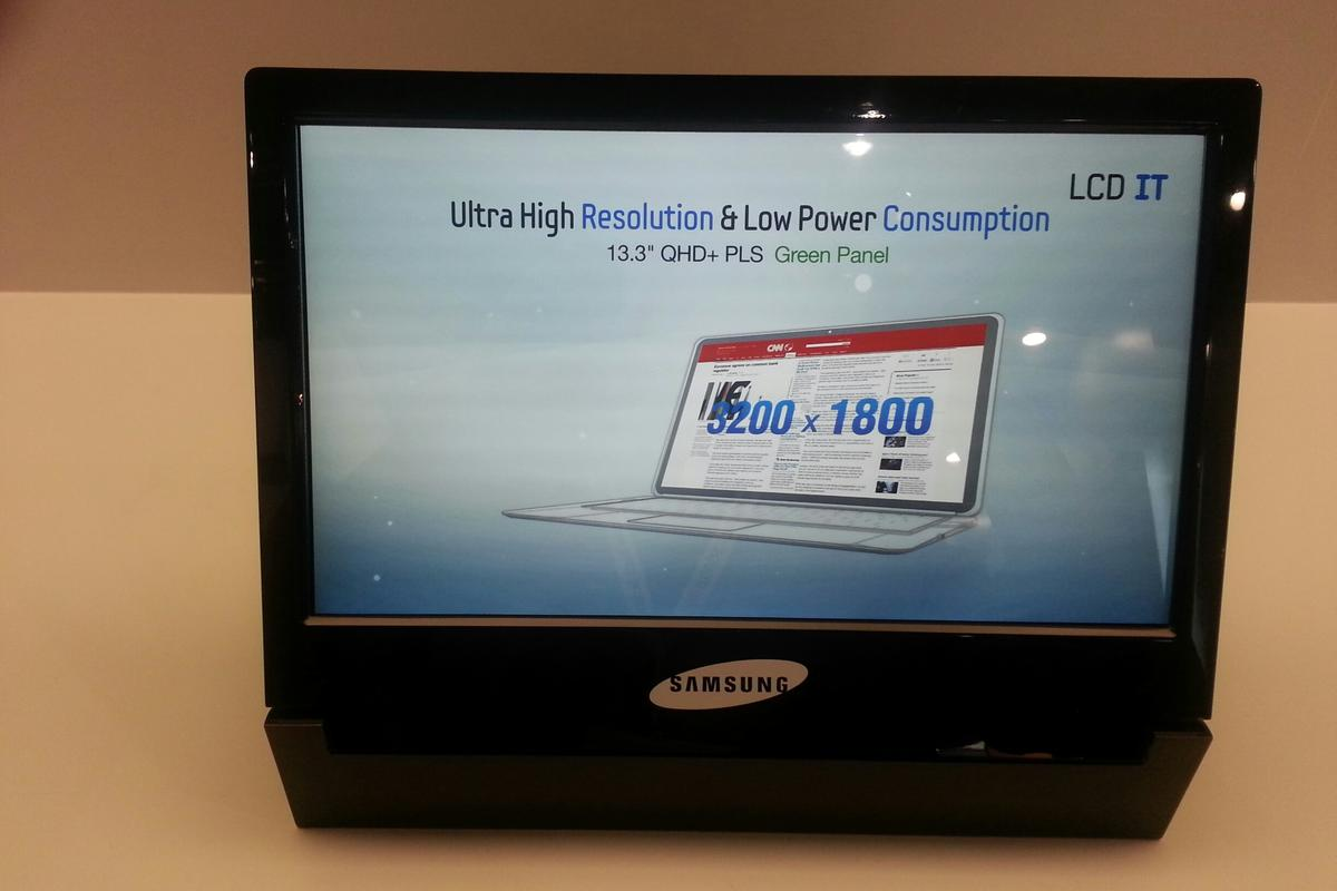 The 3200 x 1800 resolution 13.3-inch notebook display from Samsung