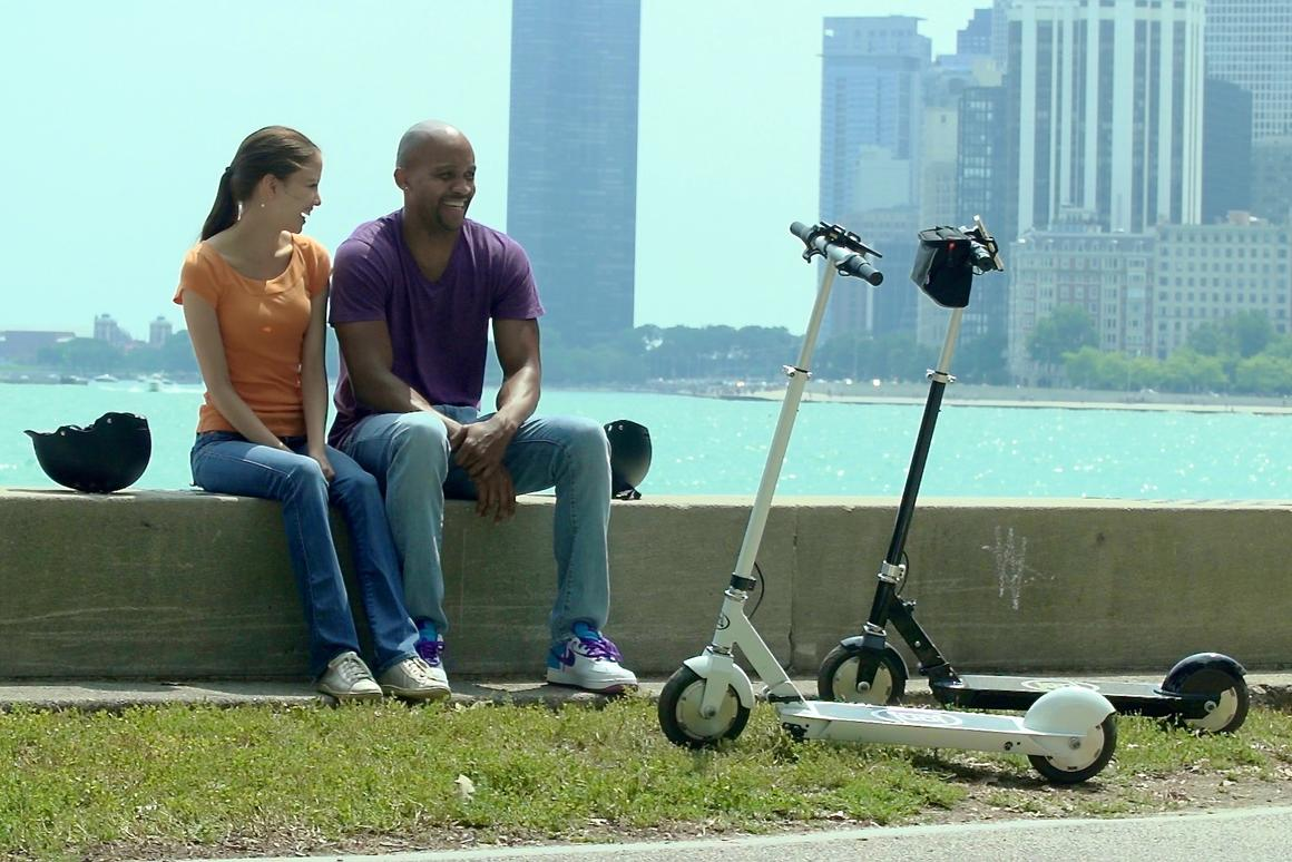 The Ion SmartScooter is claimed to travel up to 17 miles (27 km) on a single charge, and at speeds of up to 15 mph (24 km/h)