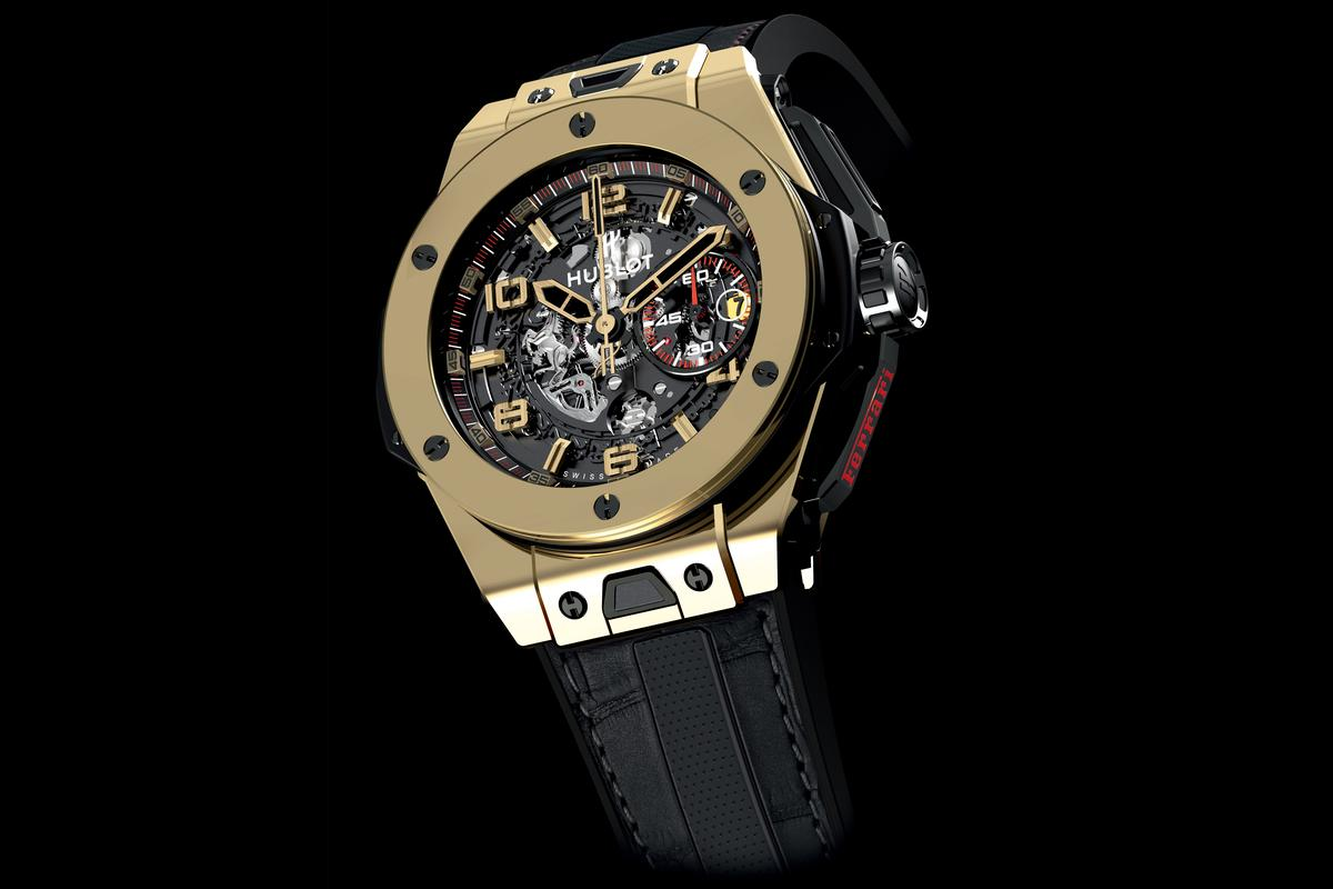 The Big Bang Ferrari is the first watch resulting from a partnership between Hublot and Ferrari