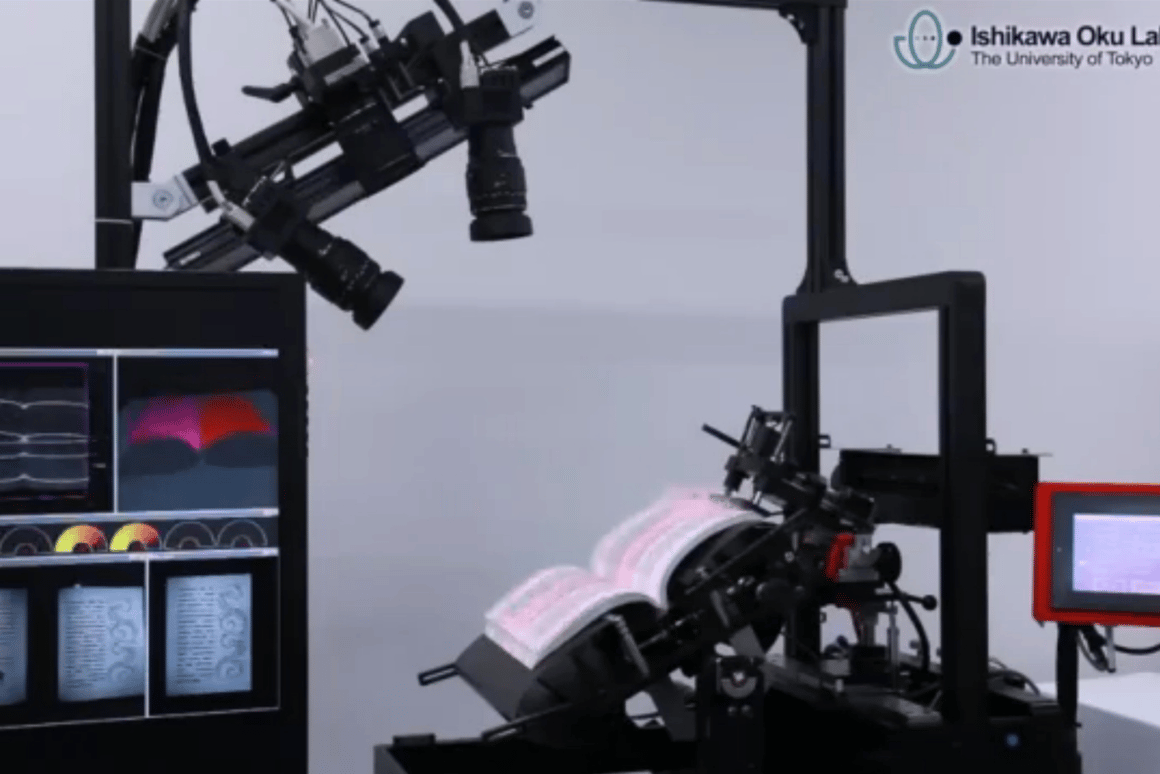 The Ishikawa Oku Laboratory robot book scanner