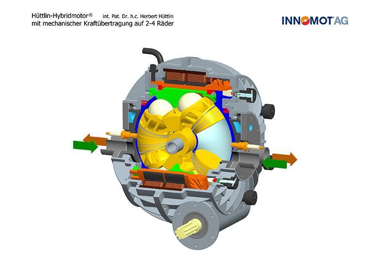 Kugel motor hybrid cutaway drawing