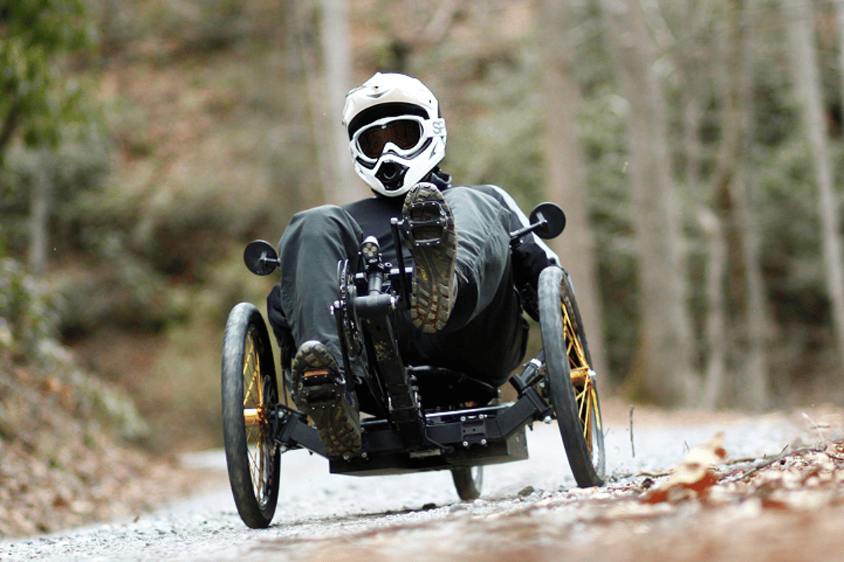 Outrider USA's line of electric recumbent tricycles can reach speeds as fast as 40 mph