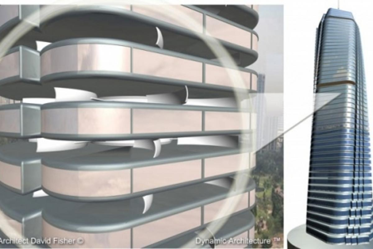 Dynamic Constructions is set to commence soon on building Dubai's wind-powered rotating skyscraperImage: Dr David Fisher/Dynamic Architecture