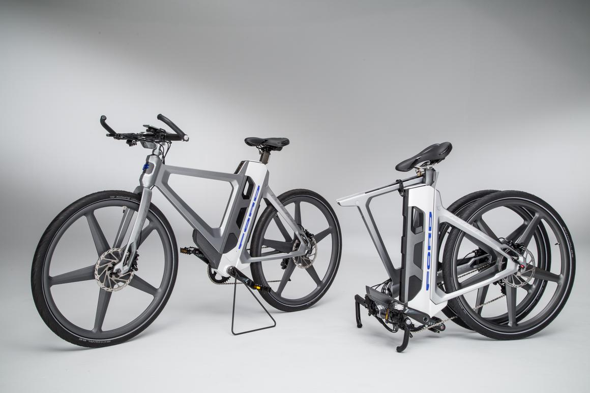 The Mode:Flex breaks in two for easier transport in a variety of vehicles