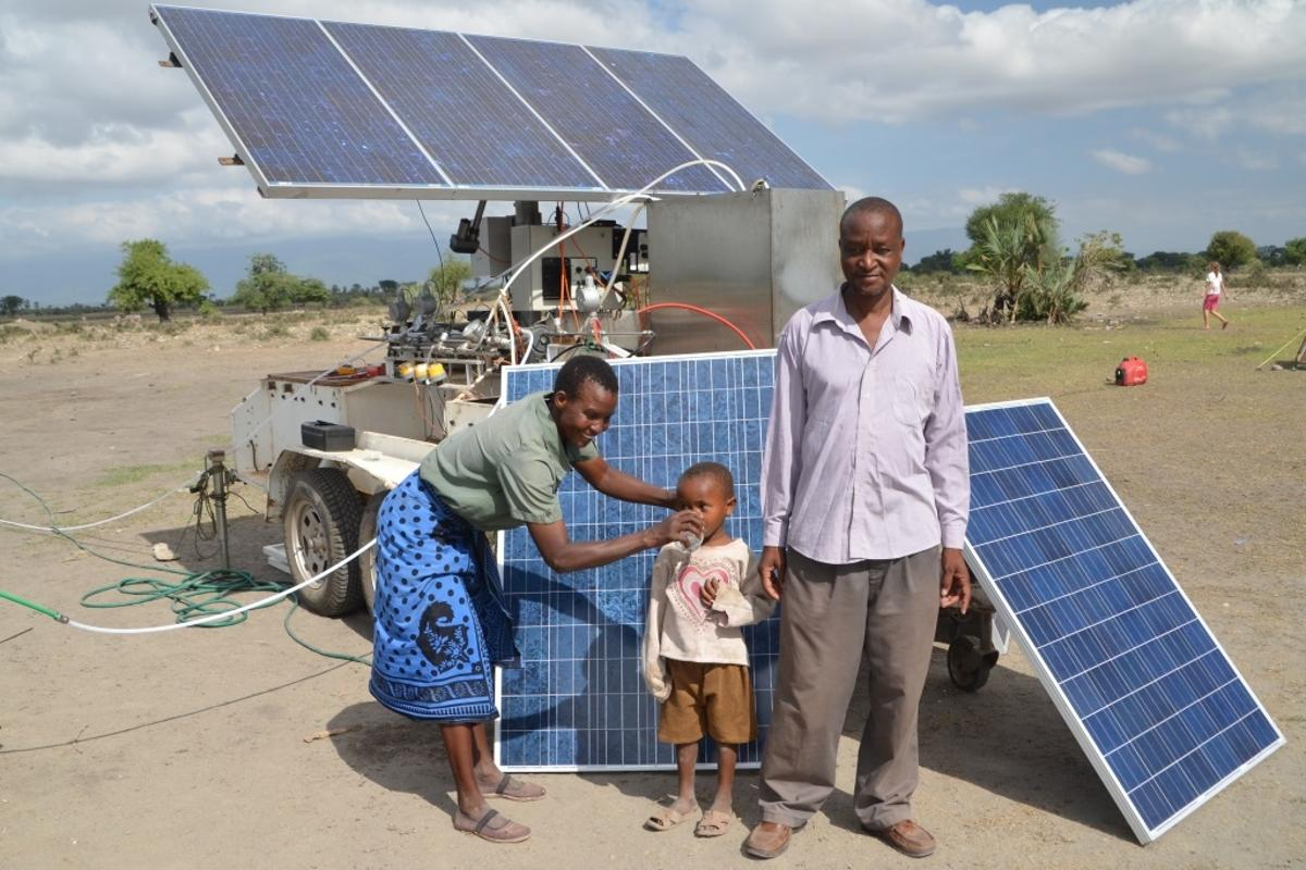 ROSI is a new water filtration system that is both mobile and can be solar- or wind-powered