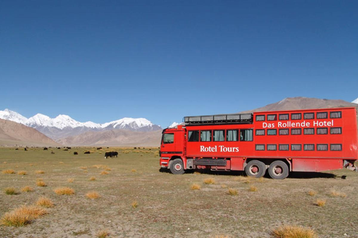 The Rotel rolling hotel takes you off the beaten track and lets you sleep in relative comfort under the stars