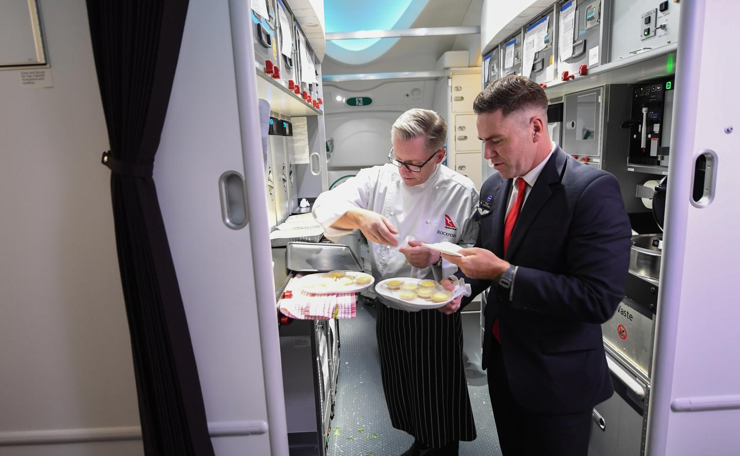 Meal times were adjusted to tackle jet lag on Qantas' record-breaking 19-hour flight