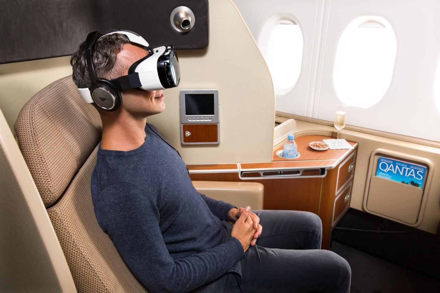 Qantas will soon be offering first-class passengers a virtual reality experience in midair