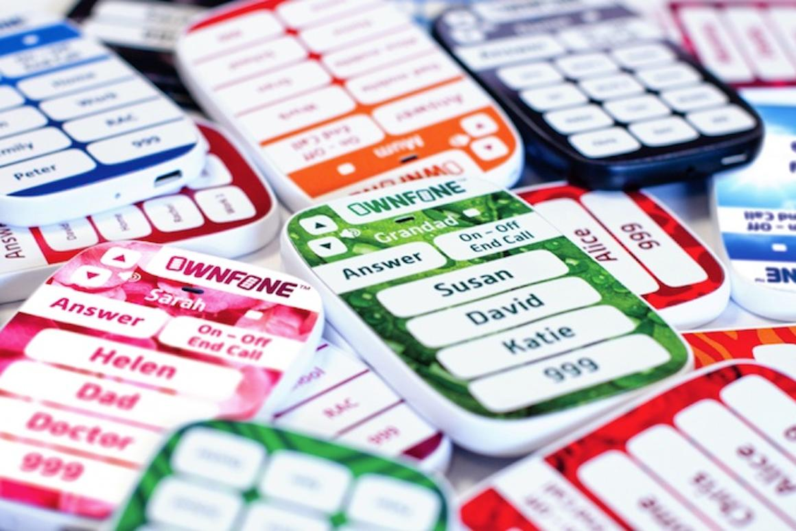 OwnFone is a small and light cellphone which lacks in features but is very accessible as a result