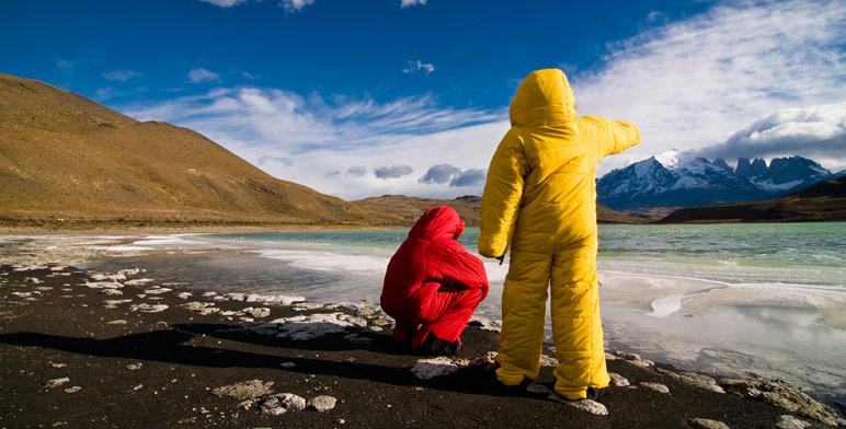 The Selk'Bag (or Musuc'Bag) is a sleeping bag with arms, legs and a hood, which can be both slept in and worn as outerwear (Photo: Selk'Bag)