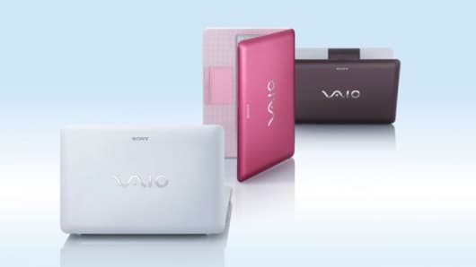 The Sony VAIO W-Series color range