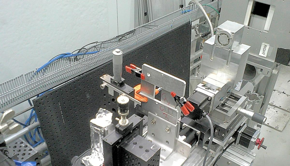 View of MIT's new neutron microscope looking back along the beam path (Photo: MIT)