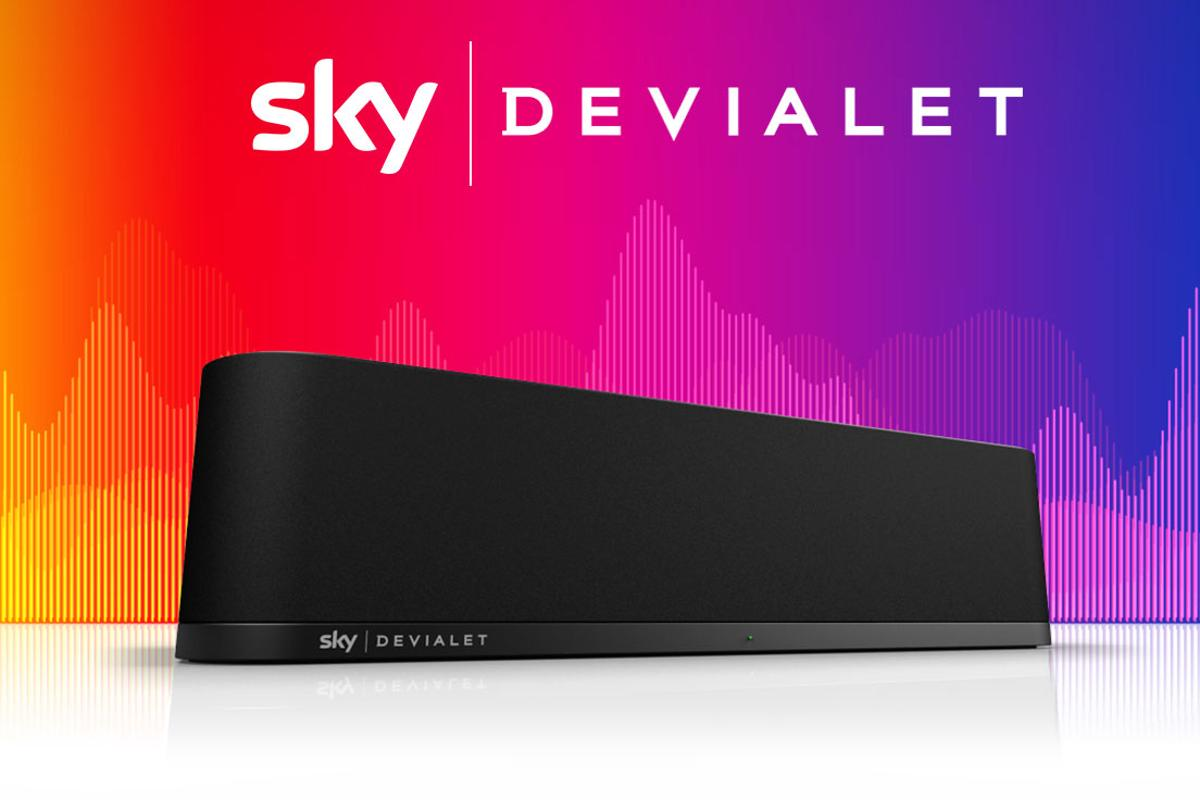 Sky has paired with Devialet for the Sky Soundbox