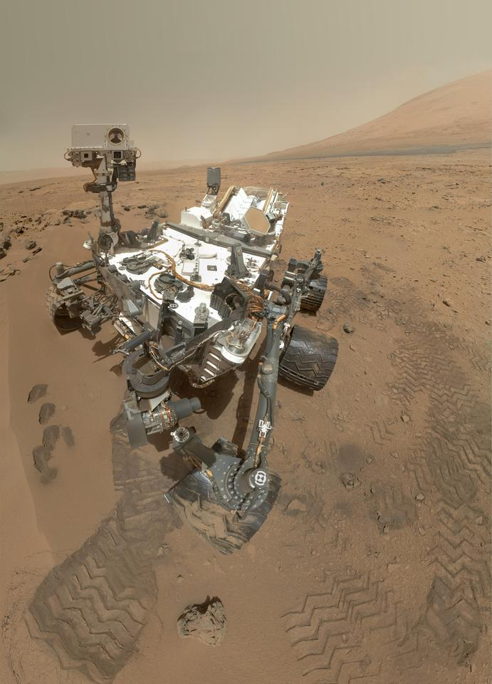 Self portrait of Curiosity (Image: NASA/JPL-Caltech/Malin Space Science Systems)