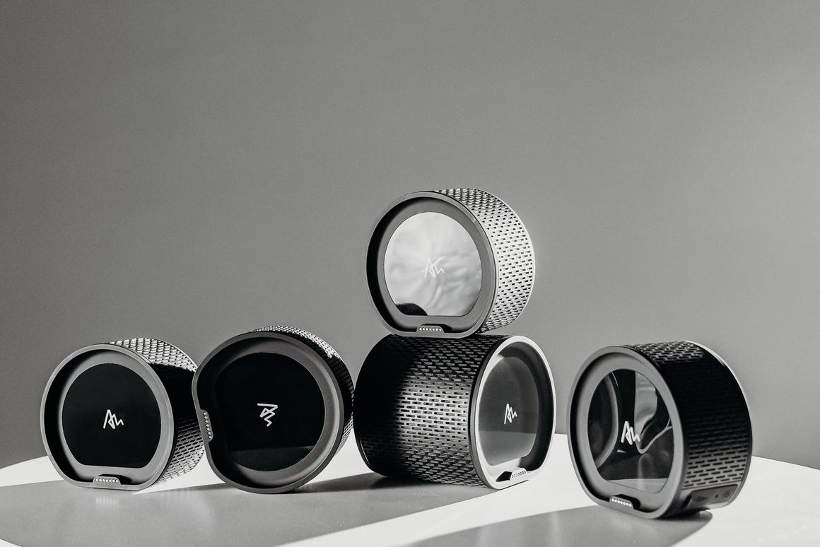 The battery-powered Air by Quirky: five Bluetooth speakers in one