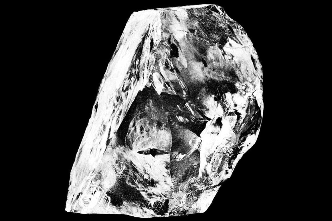 New study of the world's biggest, most famous diamonds, such as the Cullinan diamond pictured, have provided insights into the Earth's mantle and the geological history of our planet