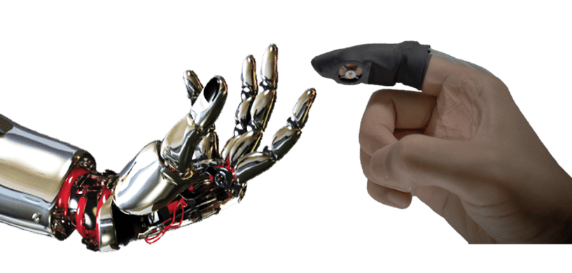 Scientists have developed a new haptic feedback glove that makes use of artificial muscles in the fingertips