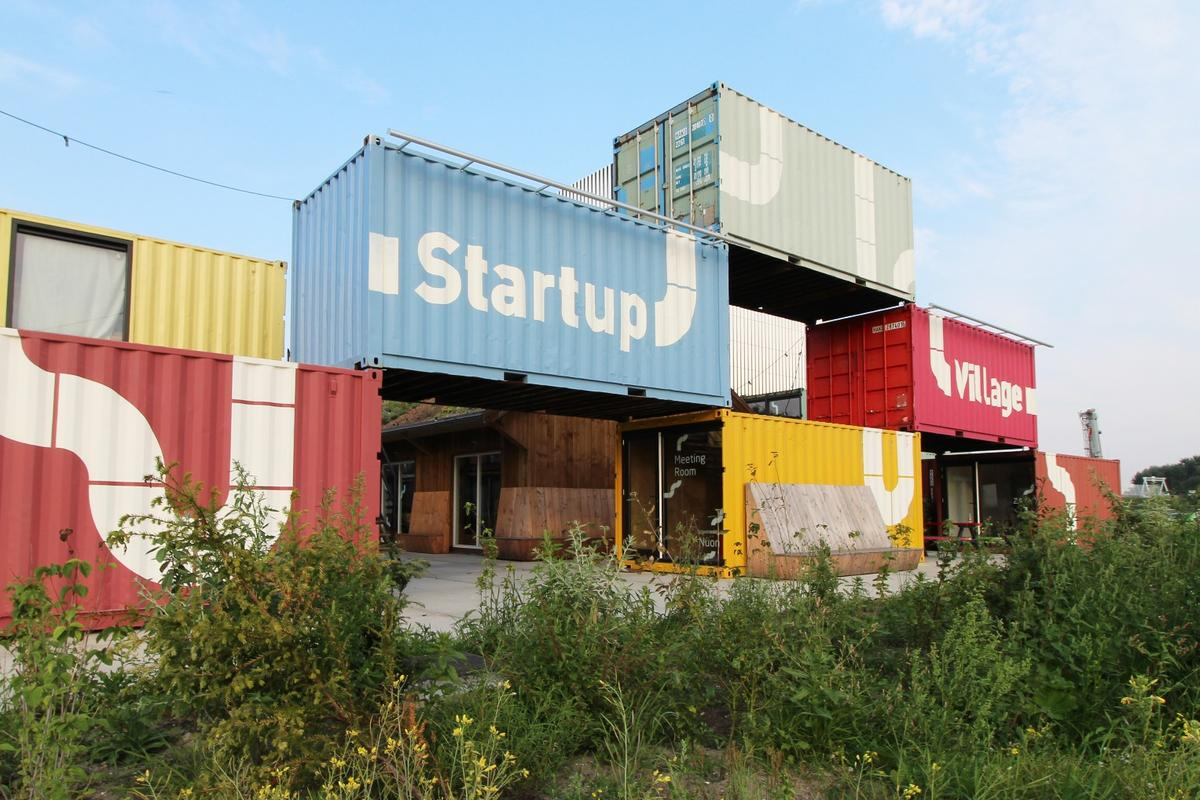 A set of upcycled shipping containers have breathed new life into a derelict and underused space at Amsterdam Science Park