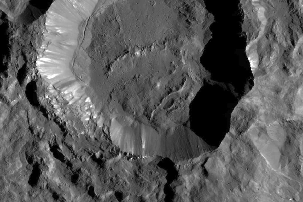 Image of the Kupalo Crater taken by NASA's Dawn spacecraft