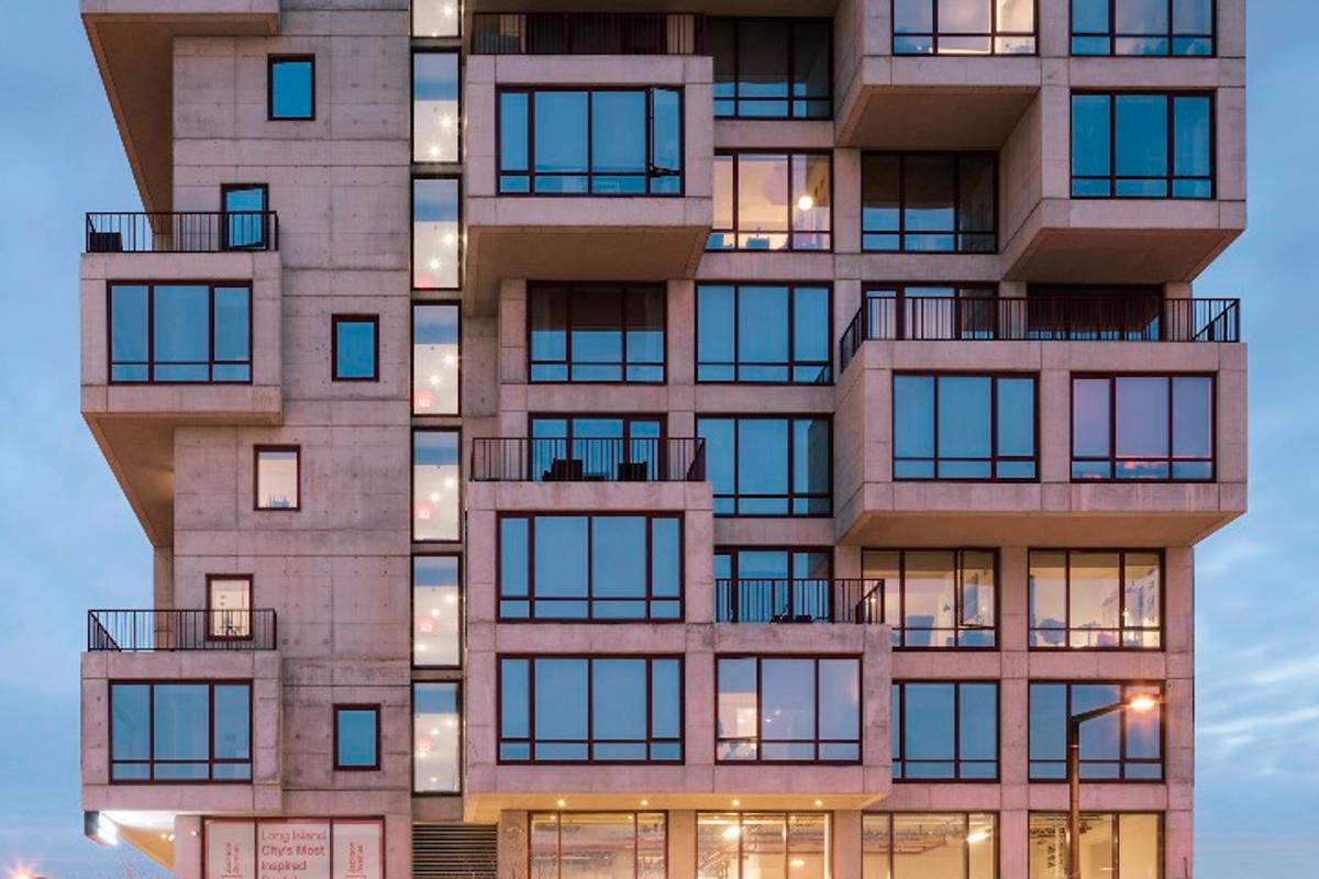 ODA says that the pushing out apartments in this way creates 30 percent more outdoor space than would have been available without the protrusions