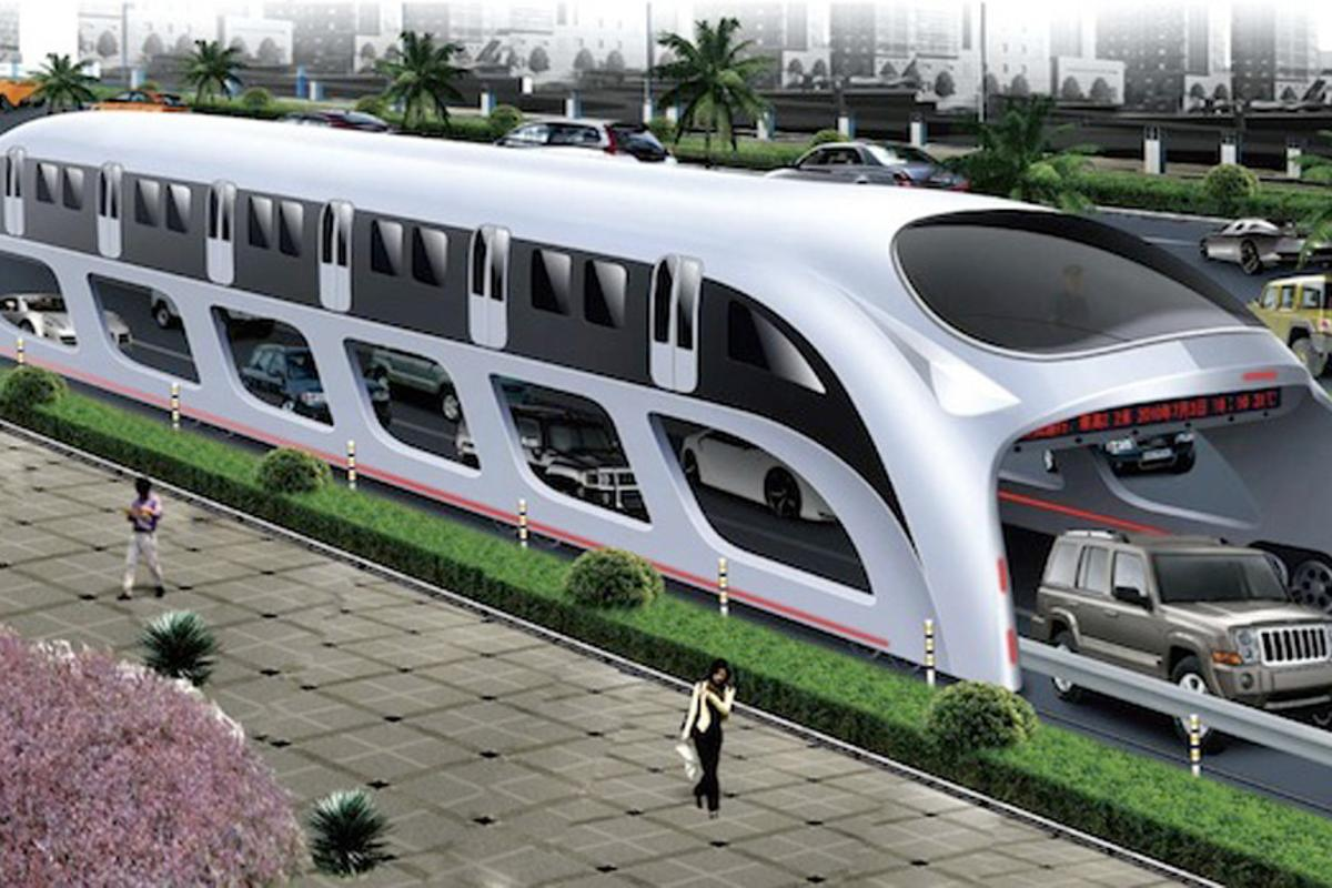 The Elevated High-Speed Bus could be headed for U.S. streets