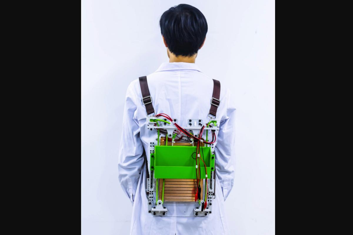 The proof-of-concept backpack is claimed to make loads feel over 20 percent lighter