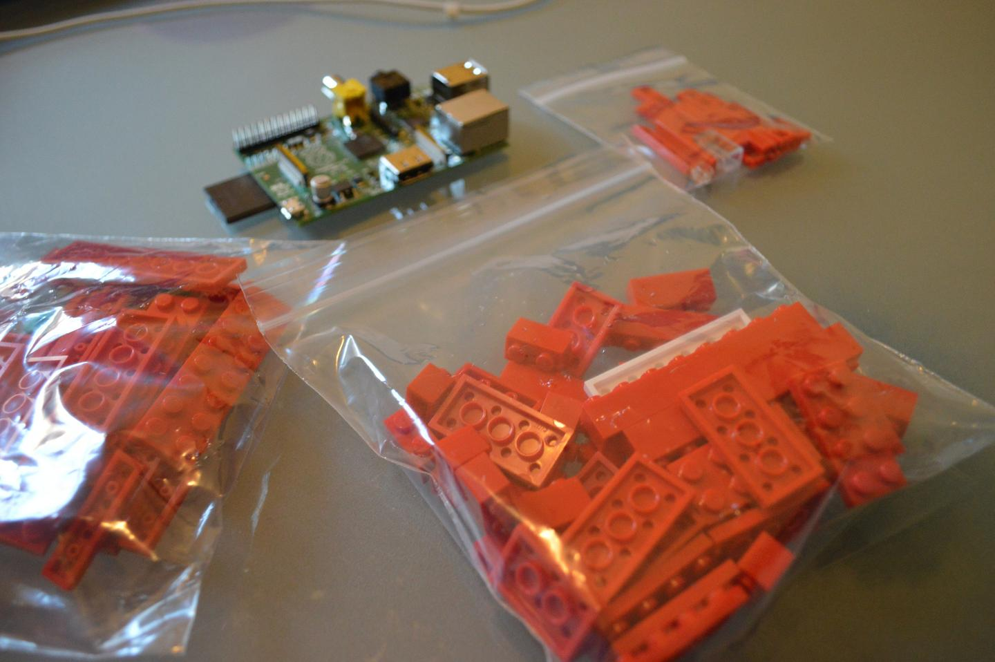 Be sure to arrange the LEGO around your Raspberry Pi for pleasing photo opportunities (Photo: Gizmag)