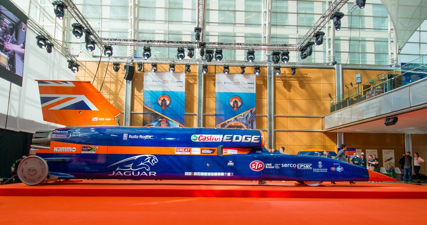 Bloodhound SSC will go on show in London ahead of its bid to break the 1,000 mph (1,600 km/h) barrier